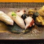 玄海鮨 - お好みで、タイ、カンパチ、タコ、アナゴ