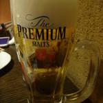 くふ楽 - 生ビール