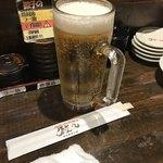 浪花ひとくち餃子 チャオチャオ - まずは生ビール