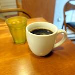 POTASTA - ベーコンエッグトーストサンドセット756円のホットコーヒー