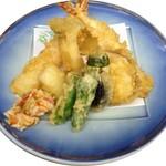 松葉寿司 - 天ぷら盛り合わせ