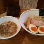 ゲンテン - つけ麺味玉全景