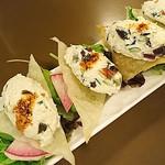 ビーフン東 - ピータン豆腐 カリカリ揚げワンタンのせ
