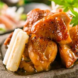 【極上溶岩焼】比内地鶏とシャモロックの食べ比べ!!