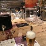 CABANA TERRACE - 飲み物はバーカウンターでグラス交換でお代わり