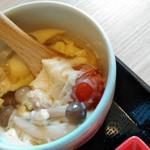 91907139 - 穴子とトマトの茶碗蒸し
