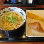丸亀製麺 - 釜ぶっかけ+いなり+いか天(140円+100円+120円)