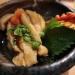 廻鮮寿司 塩釜港 - ホヤ酢(宮城):たぶん400円