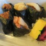 笹八 - 料理写真:5種のおむすび
