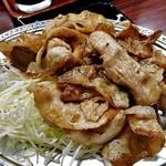 宇宙軒食堂 - 「とんバラ定食W(肉大盛り)」のメイン