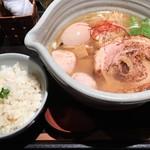 91912261 - 白醤油ラーメン 味玉&鯛飯