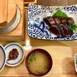 龍神丸 - 「藁焼き鰹の塩たたき定食《6切れ》」1180円(税別)