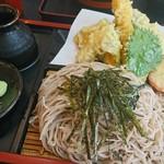 信州蕎麦の草笛 - 海老天ざる蕎麦(並)