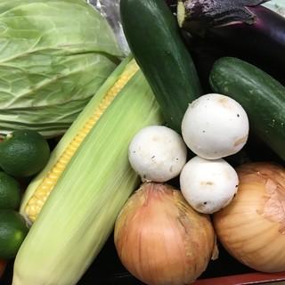 【厳選の無農薬野菜】~その時に一番美味しい食べ方でご提供~