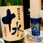 鉄板居酒屋夢はな - 鉄板居酒屋夢はな@山形 十水 特別純米(700円)
