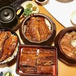 Unagikaisenryourimunagi - ⭐︎上鰻丼(一尾、肝吸い、香の物)@4000             ⭐︎うな重(一尾、肝吸い、香の物)@4380             ⭐︎上ひつまぶし(一尾、肝吸い、香の物、薬味、出汁)@4500             ⭐︎牛まぶし(味噌汁、香の物、薬味、出汁)@2880