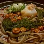 めん房 新月亭 - 「めかぶ蕎麦」