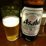 立呑み処 与太呂 - アサヒスーパードライ大瓶 (500円)でおつぷは♪