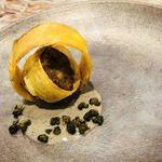 91931768 - リドヴォーのソテー ジャガイモのフリット トリュフ香るソース サントモール