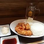 唐揚げ・串カツ・にぎりめし 炎龍 - 料理写真:今日のテリマヨソースは、マヨネーズ、テリヤキソースと分けて添えて下さいました。