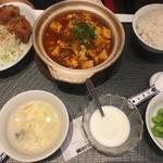 Fuyouen - 友人は四川麻婆豆腐定食、辛かったらしい