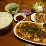 天天菜館 - マーボ餃子定食