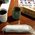 91942488 - おしぼり、お茶、コーヒー
