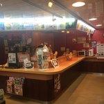 りつりん2船内売店うどんカウンター - うどんコーナーの様子。
