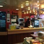 りつりん2船内売店うどんカウンター - うどんコーナー。