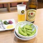 立飲み屋 Kiritsu -  瓶ビールとキビナゴ刺しと枝豆でちょうど1000円