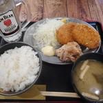串だおれ - 串だおれ定食!¥680-