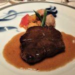 91950130 - 北海道産短角牛サーロイン 熟成肉のポワレとそのシンプルなジュのソース