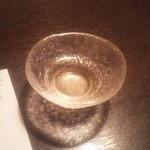 江戸肉割烹 ささや - 食前酒 自家製梅ジャム酒