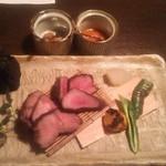 江戸肉割烹 ささや - 和歌山 本宮鹿 本宮猪 旬野菜