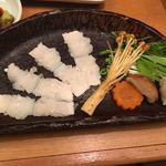 鮨酒肴や魚忠本店 - ハモしゃぶ