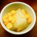 クラフトビアマーケット - お通しの冬瓜のコンソメ煮