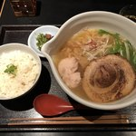 麺処 銀笹 - 2018.8.18  銀笹らーめん 塩 & 半鯛飯