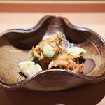 馳走なかむら - 桜海老とおたふく豆のかき揚げ