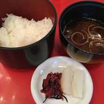 アピカルイン京都 - 料理写真:御飯、味噌汁、香の物