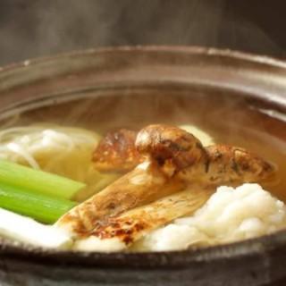 鱧松茸の小鍋