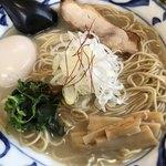 そうげんラーメン - 味玉地鶏白湯ラーメン@950円 大盛り+100円