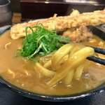 極楽うどん Ah-麺 - 竹天も鶏天もボリュームありますが、サックサク♫