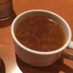 曙ステーキ - ランチスープ