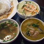 ガパオ食堂 - サラダ、スープ
