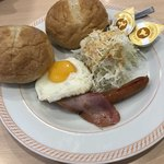 ジョイフル - モーニングエッグ、おかわりパン