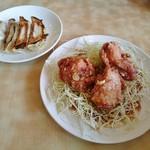 東横 - 油淋鶏3個とクーポンの餃子