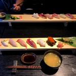 一政 - 寿司七貫・日替わり二品(980円)