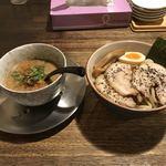 91978122 - こってりつけ麺(トッピング チャーシュー)