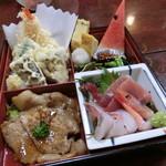 91979029 - 「和定食 たち花」刺身・天ぷら・焼肉・煮物