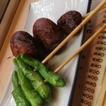 鳥栄 - 野菜焼き